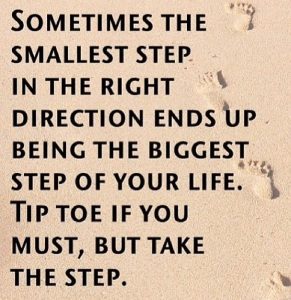 take the step