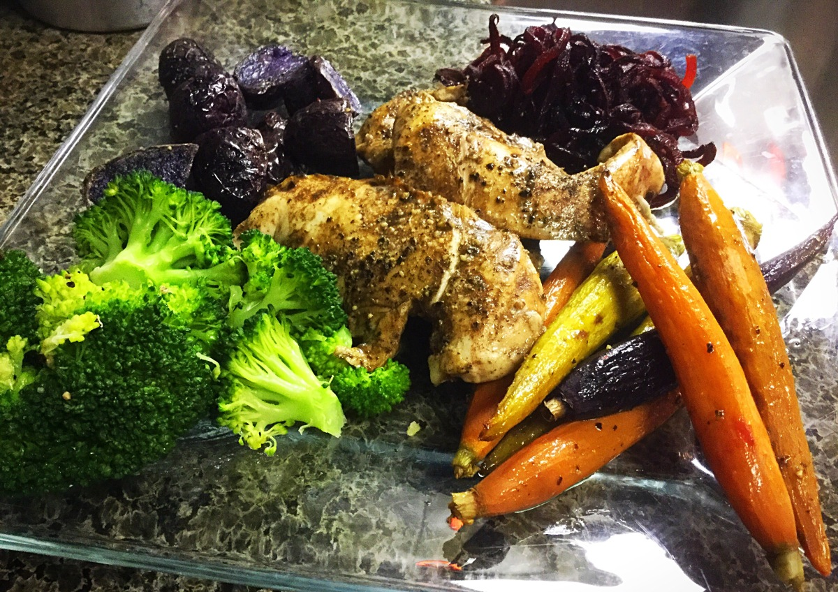 Balsamic Chicken with Roasted Vegetables. One One Pan Wonder!