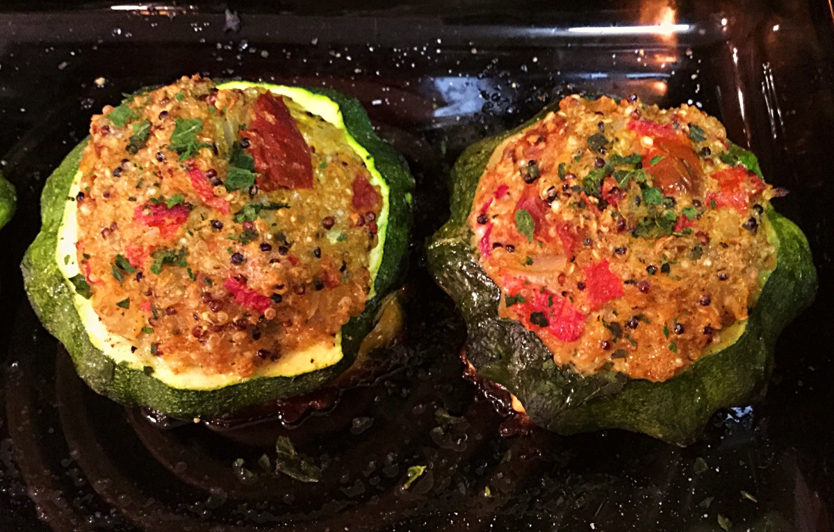 Veggie & Quinoa Stuffed Patty Pan Squash