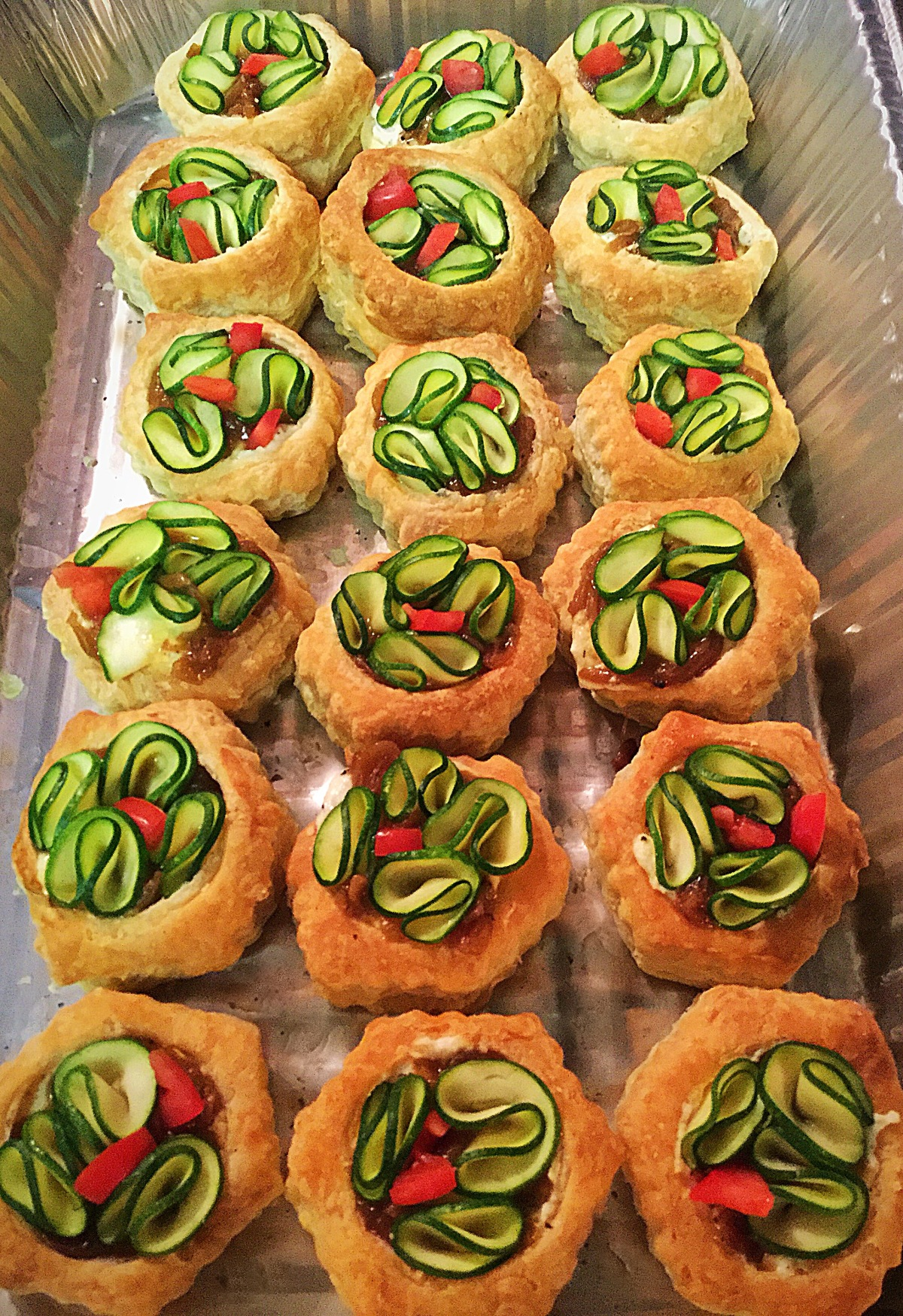 Vegetable Tartlets! Beautiful and Delicious!