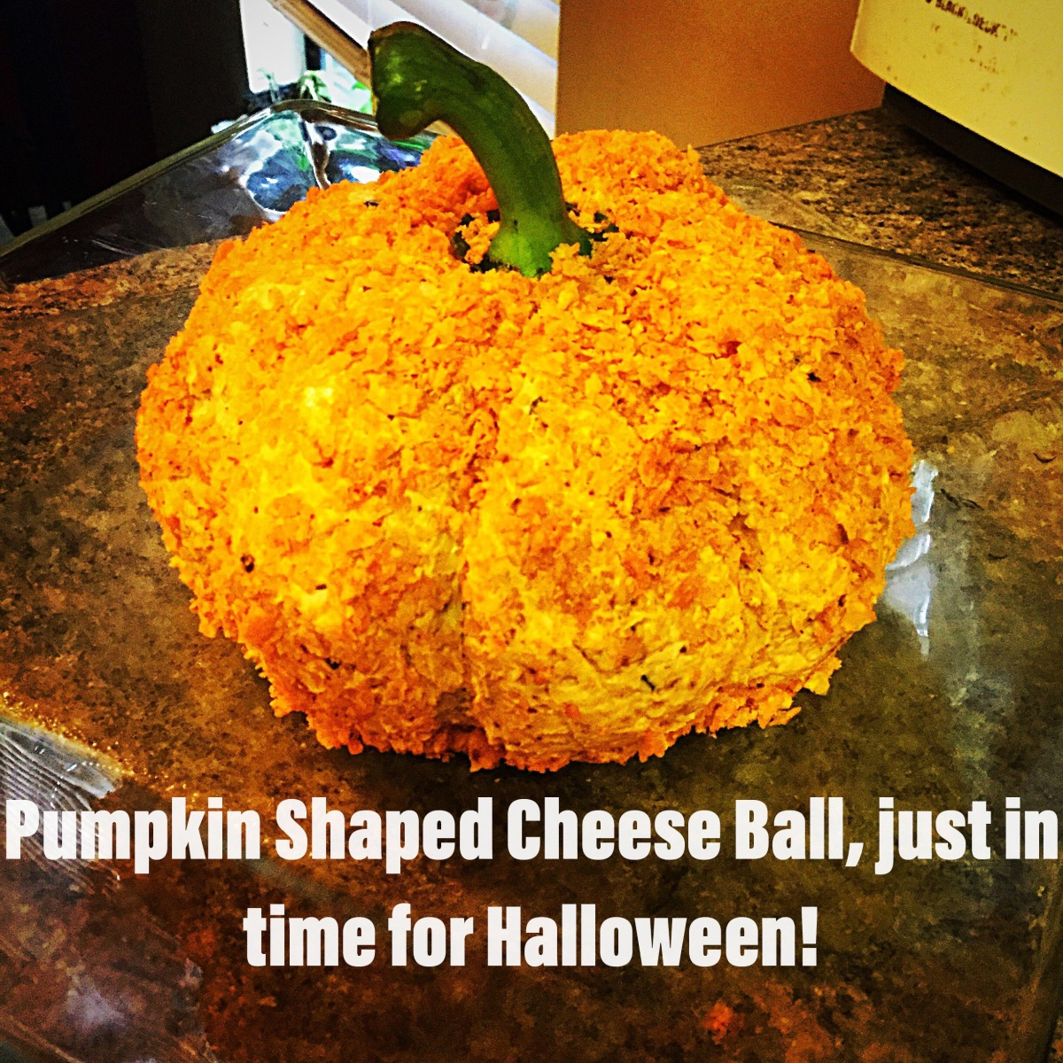 Pumpkin-Shaped Cheese Ball ala Bobbe!