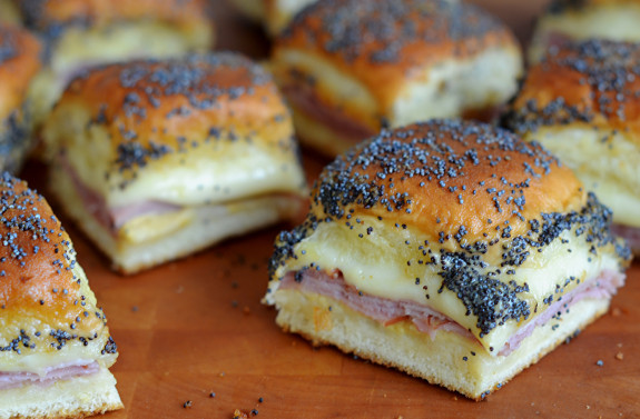 Marinated Ham & Cheese Sammies with Caramelized Onions! Delicious!