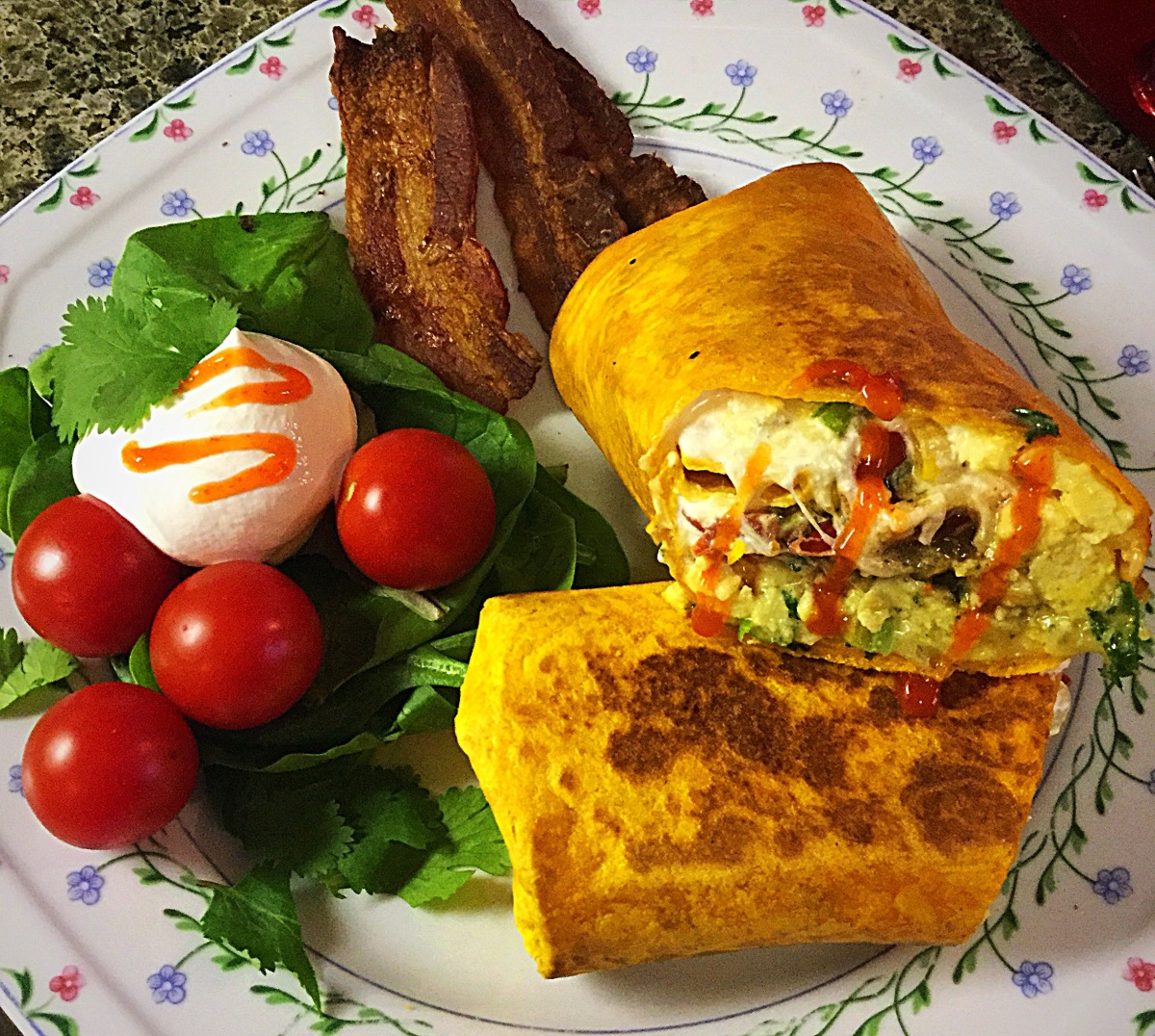 Breakfast Burritos ala Bobbe. My first video.