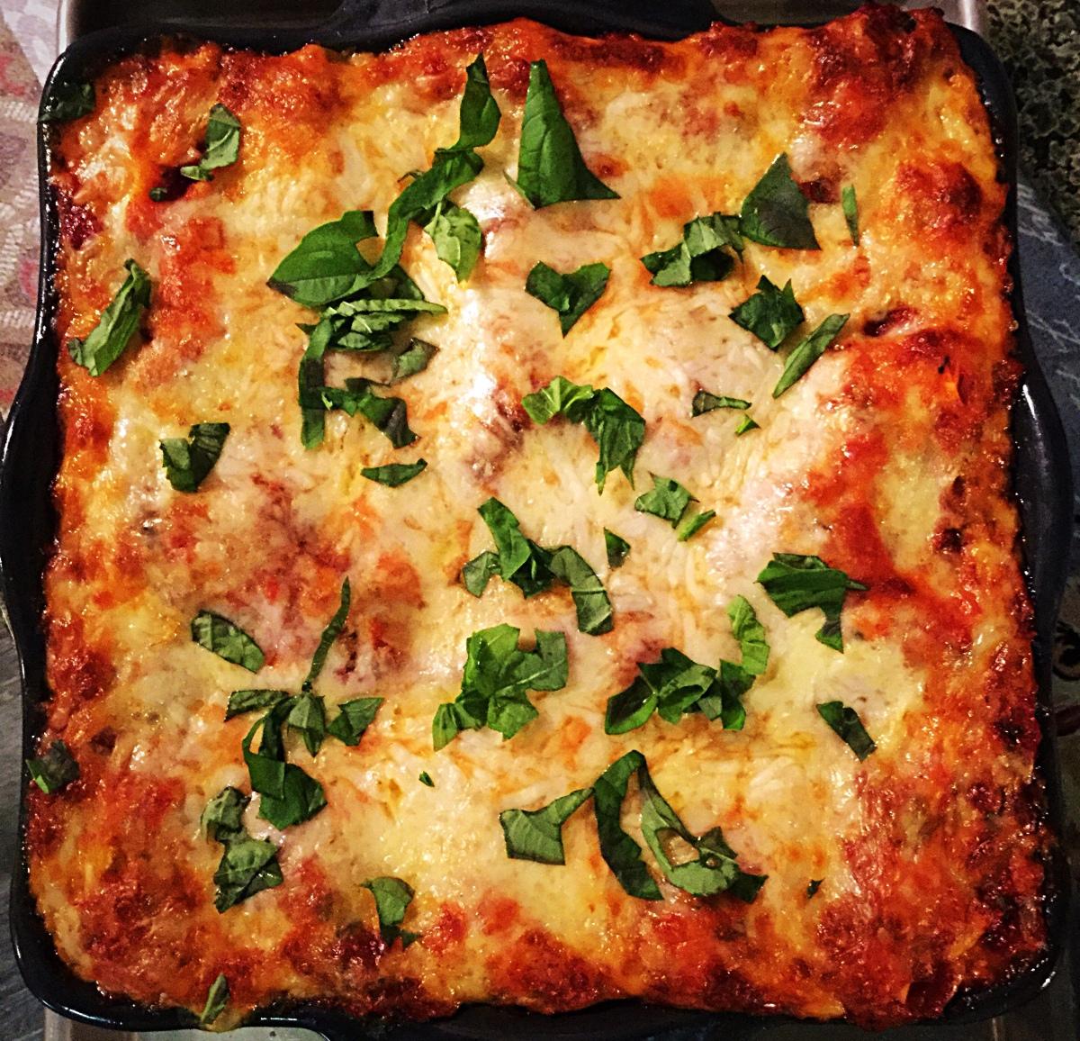 Not Yo Mama's Vegetarian Lasagna alaBobbe